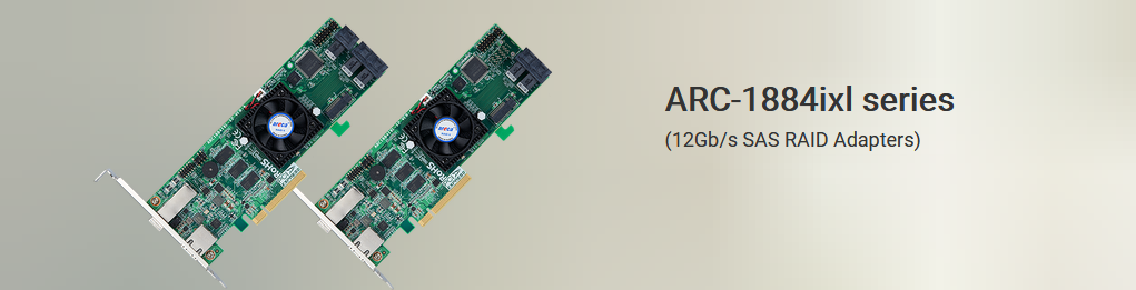 ARC-1884ixl series (12Gb/s SAS RAID Adapters)